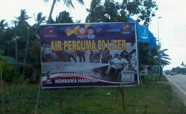 Janji BN Selangor sewaktu PRU-13 lalu. Macam kenal.