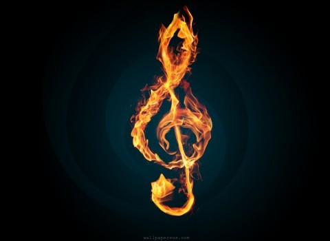 Music-Fire-Note-Wallpaper