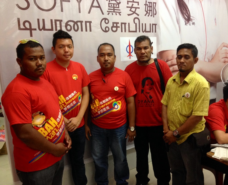 Dari kiri: Mohd Isa bin Abdul Rahman, Lim Zi Yang, Mohd Faizal Ridzuan Malek, Wan Saiful Baharin bin Wan Din dan Ghafur Syukur.