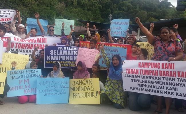 Penduduk Kampung Mutiara Di Batu Ferringhi Pulau Pinang Diusir Tanpa Pampasan
