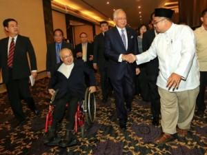 Najib berada di tempat yang sama, tapi dalam acara berbeza.