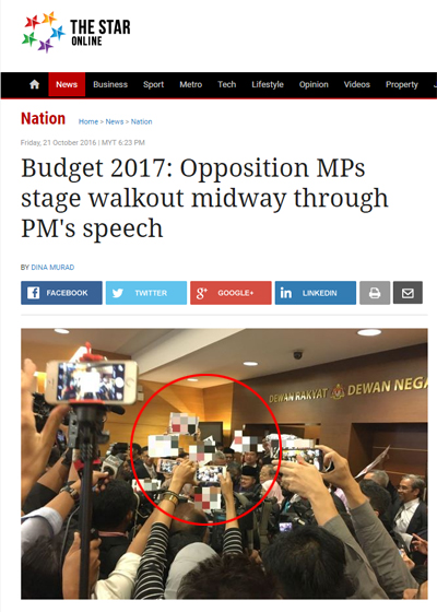 budget-2017-opposition-mps-stage-walkout-midway-through-pm-s-speech-nation-the-star-online