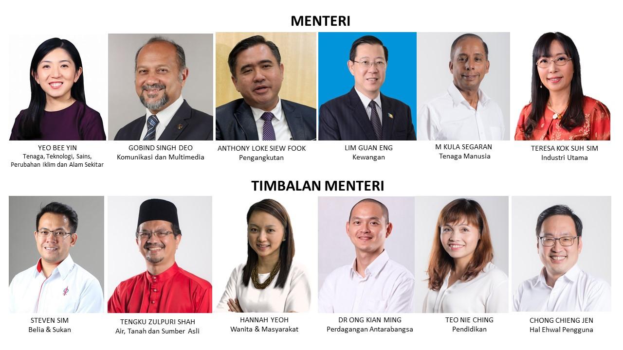 12 Pimpinan Dap Dalam Kabinet Harapan Roketkini Com